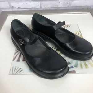 Dansko Diana Mary Jane Leather Buckle Loafers 41